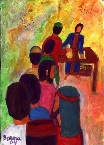 La parabole du gérant malhonnête dans Luc 16, 1-13  (Crédits photo : Bernadette Lopez, alias Berna dans Évangile et peinture )
