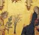 Simone Martini : Détail de l'Annonciation 1333. Tempera sur bois (Domaine public)