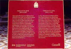 Plaque sur Mgr François de Laval, premier évêque de Québec et fondateur du Séminaire de Québec