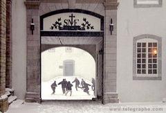 Cour du Vieux-Séminaire en hiver