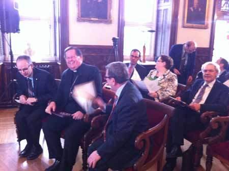 Conférence de presse pour le lancement de la programmation des fêtes du 350e anniversaire de fondation du Séminaire de Québec