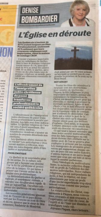 Journal de Québec 15 avril 2017