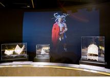 Multimedia dans la salle principale de l`exposition françois de laval, premier evesque de quebec
