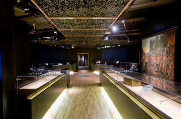 Salle principalle de l`exposition françois de laval, premier evesque de quebec