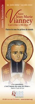 Affiche de l`Année sacerdotale du 19 juin 2009 au 19 juin 2010