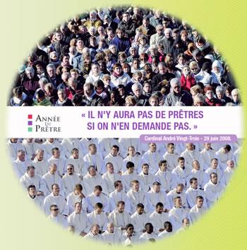 Affiche sur le site internet du diocèse de Paris