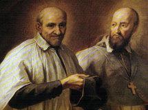 François de Sales et son ami Vincent de Paul