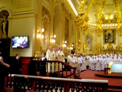Célébration à la Basilique-cathédrale Notre-Dame de Québec (Photo Gérard Blais)