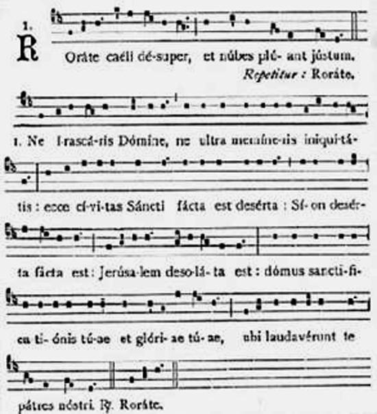 Rorate caeli desuper :  le chant par excellence du temps de l'Avent