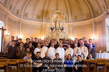 Session des séminaristes du Québec à l'occasion de l`Année sacerdotale