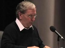 L`abbé Gilles Nadeau lors de sa conférence à l`Assemblée du Clergé le 5 mai 2010 à Beauport