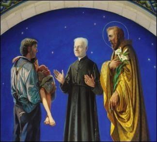 Fresque sur le Frère André