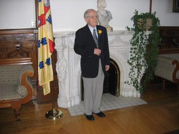 Monsieur l'abbé Jean-Marie Thivierge lors de son 60e anniversaire d'ordination presbytérale le 6 mai 2005