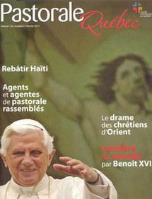 Couverture du numéro de février 2011 de Pastorale-Québec, volume 123