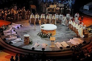 Ordinations au presbytérat au 49e Congrès eucharistique international à Québec le 20 juin 2008