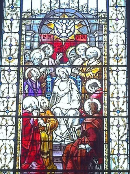 Vitrail à la Basilique-cathédrale de Québec. Don de J.E. Livernois.