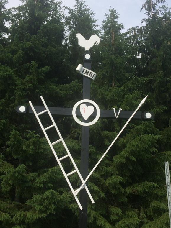 Croix de chemin à Sainte-Clotilde-de-Beauce (Crédit photo : H. Giguère)