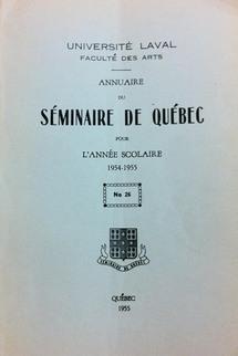 Les annuaires du Séminaire de Québec