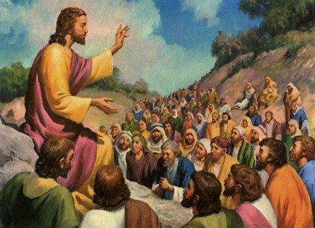 Jésus représenté prêchant sur la montagne (Crédits photo : Domaine public)