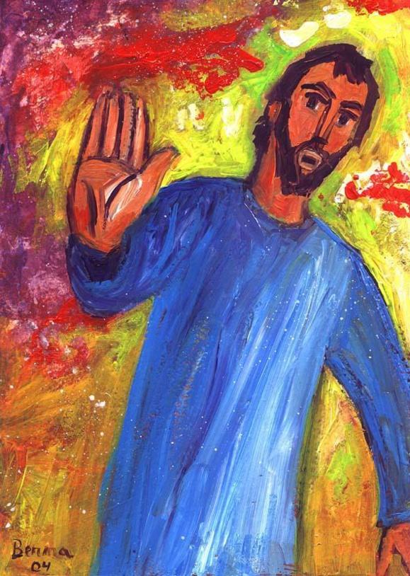 Tentation de Jésus au désert (Crédits photo : Bernadette Lopez, alias Berna dans Évangile et peinture )