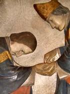 Détail d'un bas-relief à St-Germain-des-Prés à Paris