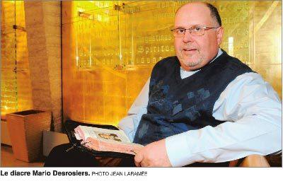 L'abbé Mario Desrosiers (photo Jean Laramée du Courrier Sud)