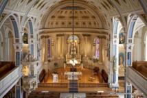 Intérieur de l'église La Nativité de la Sainte Vierge de Laprairie - Crédits photo Normand Rajotte