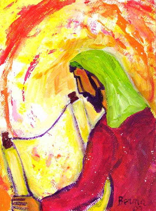 Jésus dans la Synagogue de Nazareth (Crédits photo : Bernadette Lopez, alias Berna dans Évangile et peinture)