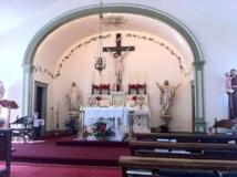 Église catholique de Dawson City au Yukon (Canada)