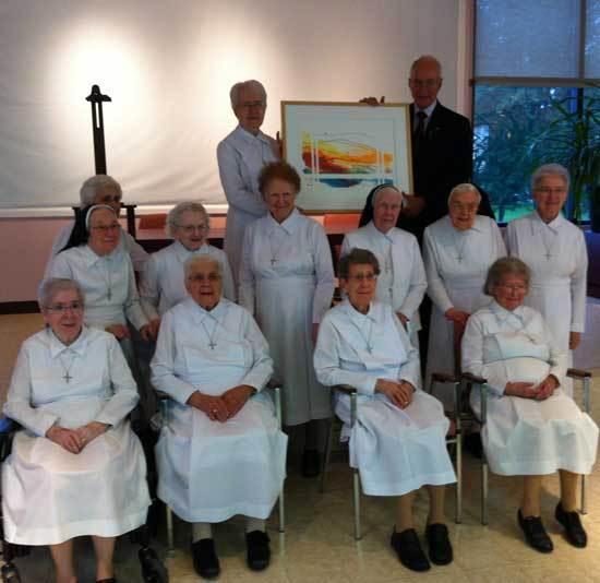 Le groupe des religieuses dominicaines (Photo H. Giguère)