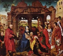 Tryptique de l'adoration des mages de Van der Weyden