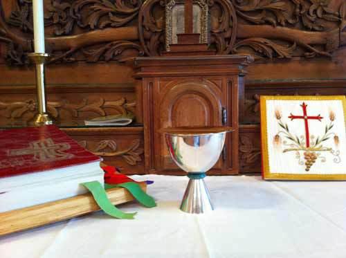 L'autel de la chapelle Mgr Briand du Séminaire de Québec (Crédits photo H. Giguère)
