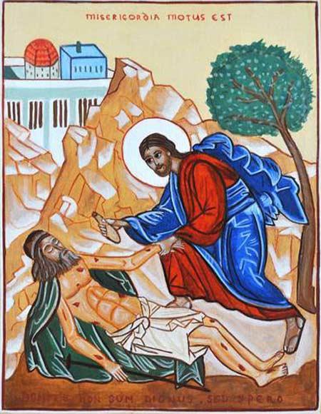 Icone du bon samaritain (Église syro-orthodoxe-francophone Paris)