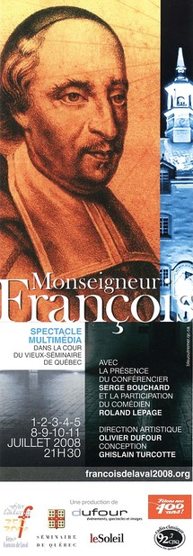 Un multimédia dans la Cour du Vieux-Séminaire dont la vedette est François de Laval