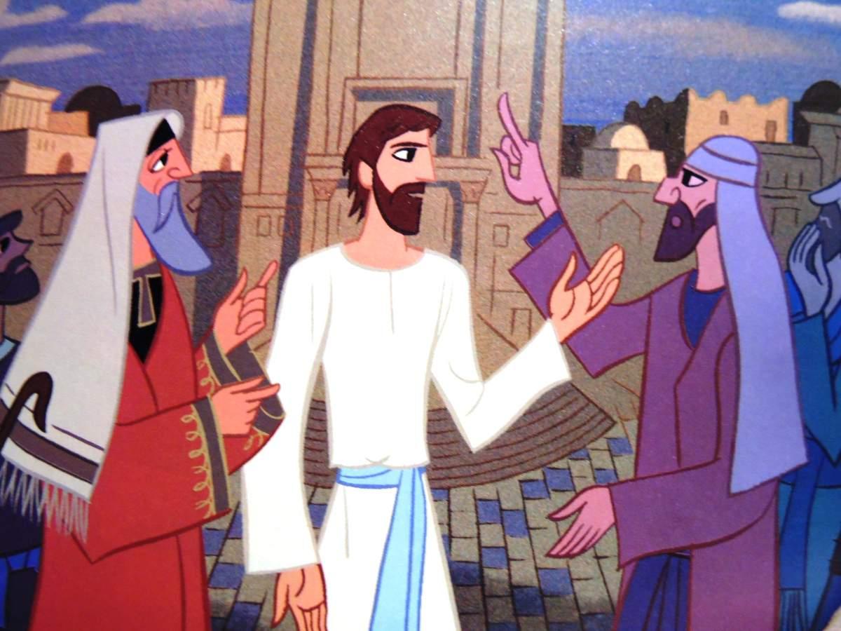 Jésus discutant avec les pharisiens Marc 3, 20-35 (Crédits photo : portail kt42)