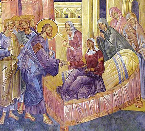 Jésus et la fille de Jaïre (Crédits photo : Apostolia)