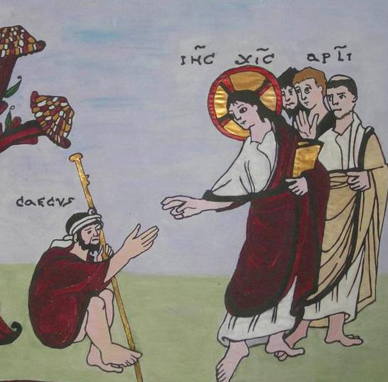 Enluminure de l'Évangéliaire d'Egbert de Trèves (fin du 10e siècle) Domaine public