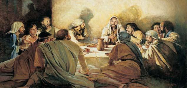 Jésus et les apôtres à la Cène (Crédits photo : Nanipeinture Eklablog)