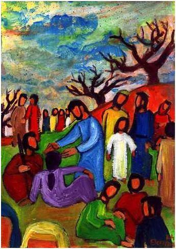 L'envoi des soixante douze disciples (Crédits photo : Bernadette Lopez, alias Berna dans Évangile et peinture)