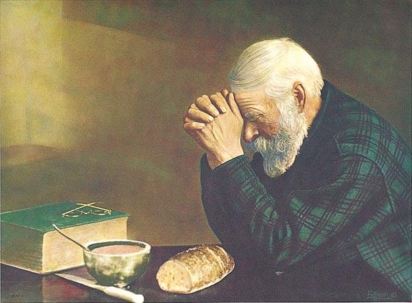« Quand vous priez, dites : ''Père, que ton nom soit sanctifié, que ton règne vienne.     Donne-nous le pain dont nous avons besoin pour chaque jour     Pardonne-nous nos péchés, car nous-mêmes, nous pardonnons aussi à tous ceux qui ont des torts envers nous. Et ne nous laisse pas entrer en tentation''. » Luc 11, 2-4  (Domaine public)