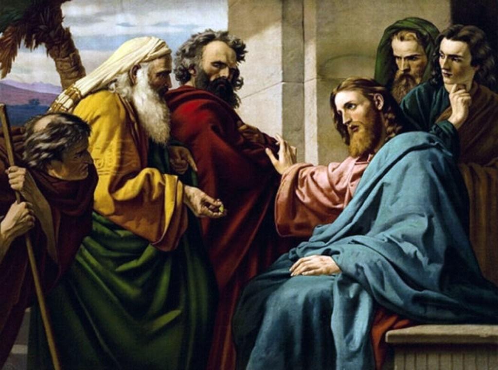 Jésus en discussion - Erns Karl Georg Zimmerman 1900 (Domaine public)