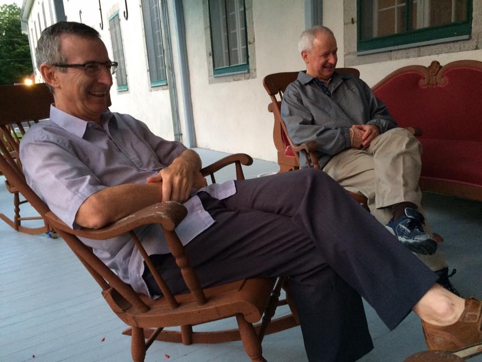 L'abbé Martin Laflamme et l'abbé Luc Paquet (Crédits photo : Grand Séminaire de Québec)