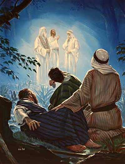 Les apôtres sur le mont Thabor lors de la Transfiguration de Jésus devant eux (Crédits photo : Sophia Center for Spirituality)