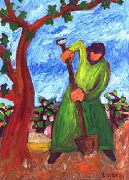 Le figuier stérile : bêcher avec persévérance (Crédits photo : Bernadette Lopez, alias Berna dans Évangile et peinture )