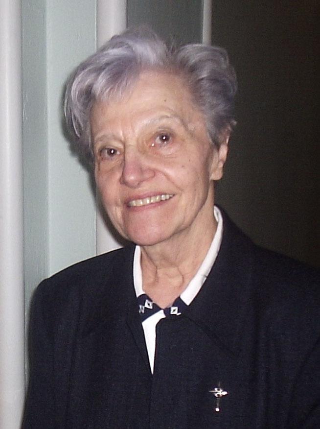 Photo de soeur Lucienne Boisvert s.c.s.l. du secrétariat des Fêtes de François de Laval 2008