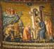 Adoration des mages par Pietro Cavallini (1250 – 1330) : mosaïque à Santa Maria in Trastevere à Rome (Crédits photo : Jean-Paul et Albert L'HUILLIER)